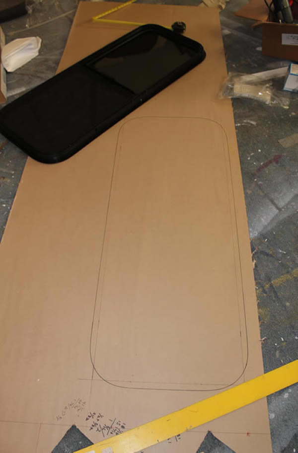 Template To Install Van Conversion Window