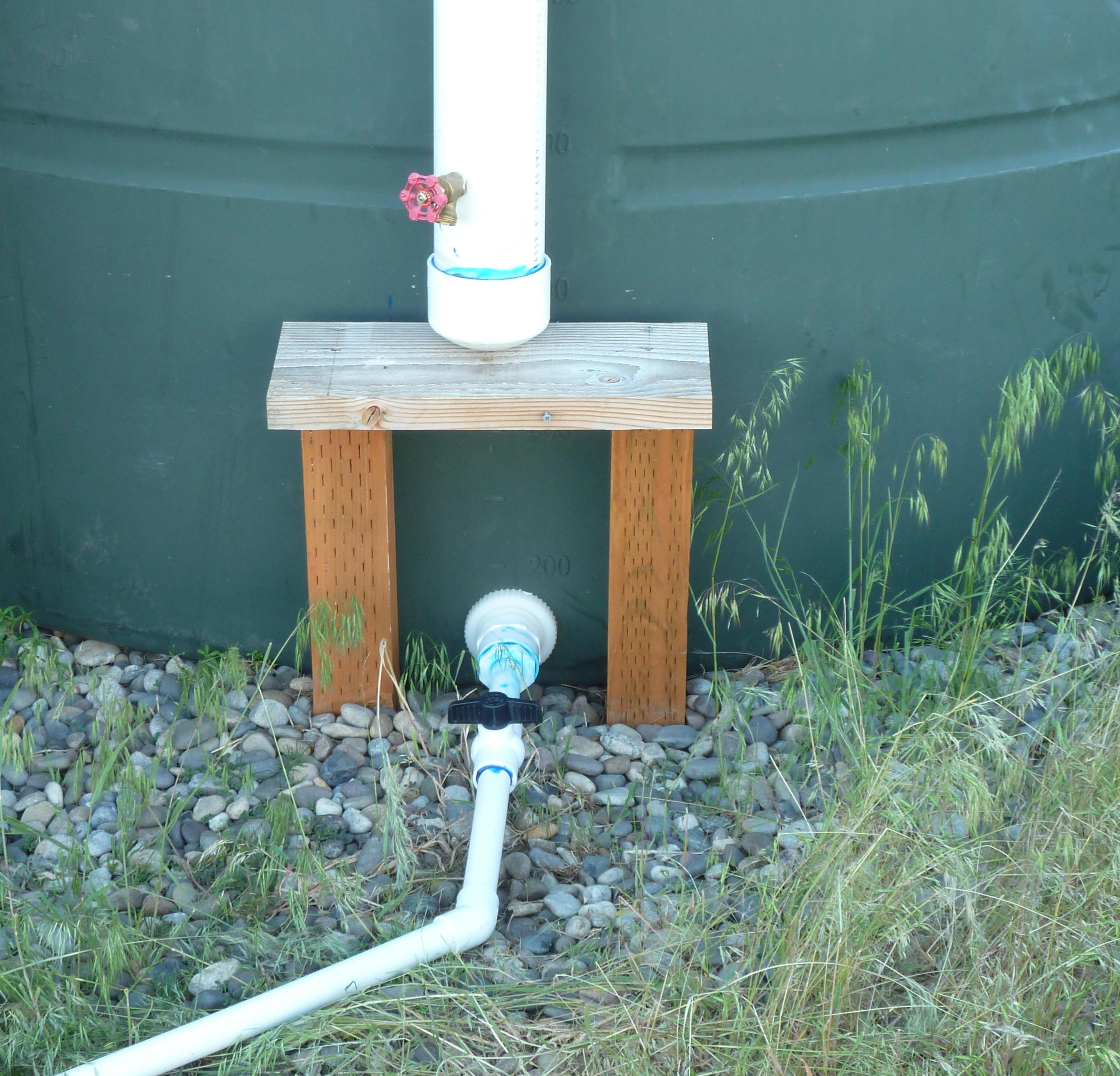 A medium sized rain water collection system delivery
