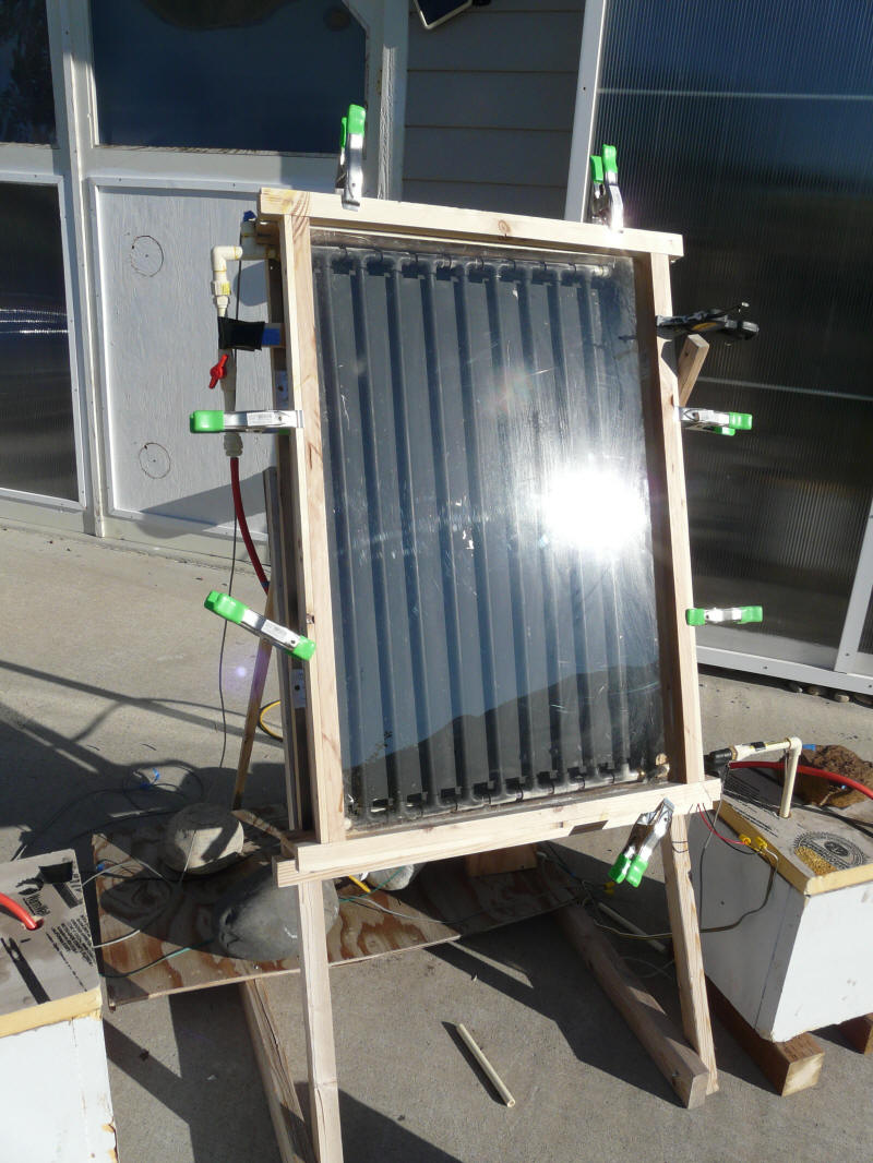 Comparing the performance of two diy solar water heating for Diy solar collector