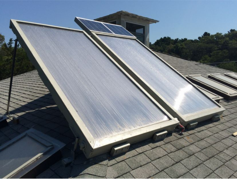 An Experimental Trickle Down Solar Water Heating System
