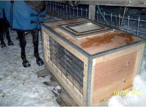 solar heated horse stock tank