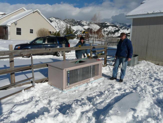 Construction Of Solar Heated Stock Tank