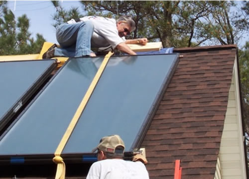 Installing solar heating collectors