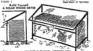 Solar Firewood Dryer