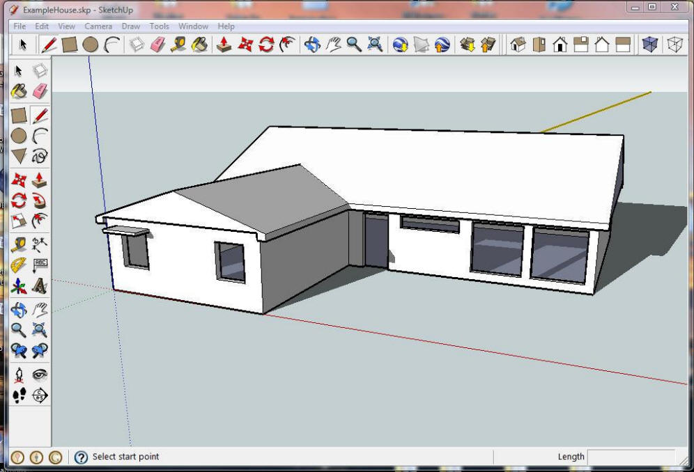Simple house model sketchup house best design for Minimalist house sketchup