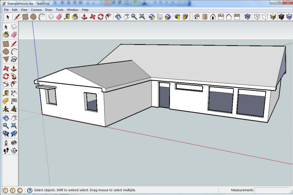 Google sketchup for solar desgin for Steps to start building a house