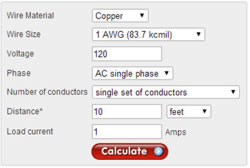 voltage drop calculator
